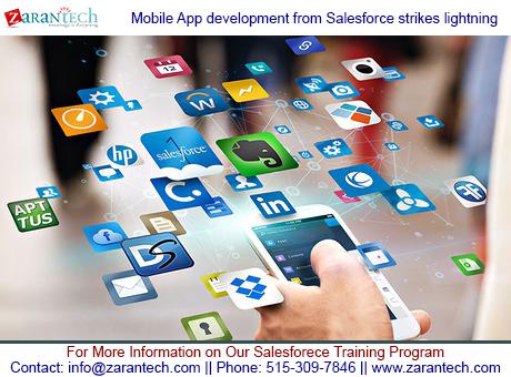 Mobile App development from Salesforce strikes lightning