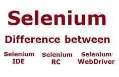 selenium-difference