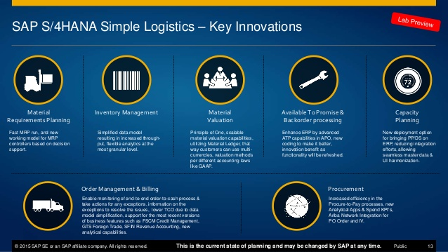SAP Simple Logistics Innovations