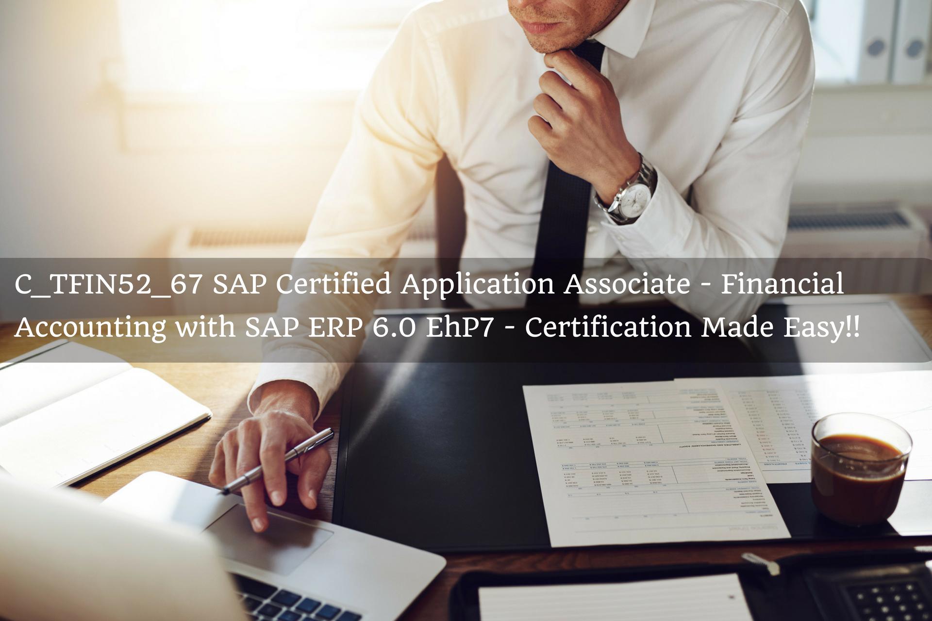 C_TFIN52_67 SAP Certified Application Associate - Financial