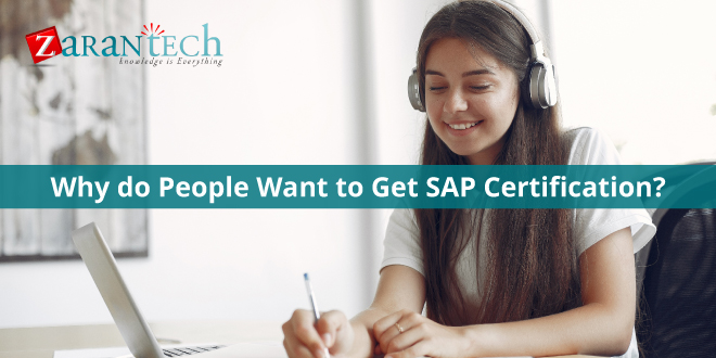 Why do People want to get SAP Certification