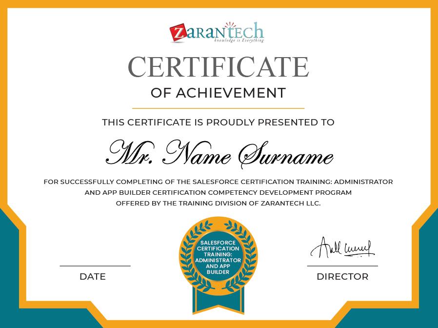 Salesforce Training-Certificate|ZaranTech