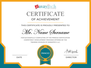 Prince2 Training-Certificate ZaranTech