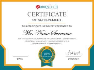 Leading SAFe 4.6 Certificate|ZaranTech